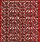 Micro-Glittersticker-Blätter / Ränder-rot/gold-7051grg