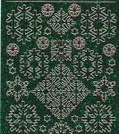 Zier-Sticker-Bogen-Eiskristalle-Eisblumen-holo-grün/gold-7055hogr
