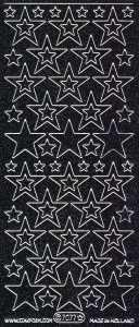 Micro-Glittersticker-Sterne-schwarz-silber-7077gschws