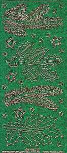 Micro-Glittersticker-Tannenzweige-grün-gold-7084ggrg
