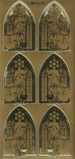 Zier-Sticker-Bogen-Kirchenfenster/Kommunion-Junge-7303/Ag