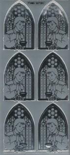 Zier-Sticker-Bogen-Kirchenfenster/Kommunion-Junge-7303/As