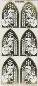 Zier-Sticker-Bogen-Kirchenfenster/Kommunion-Junge-7303/Atrg