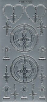 Zier-Sticker-Bogen-kirchliche-christliche Motive-7306s