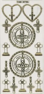 Zier-Sticker-Bogen-kirchliche-christliche Motive-7306trg