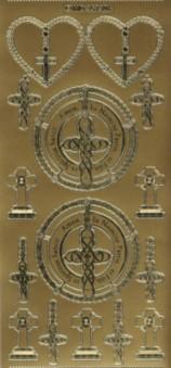 Zier-Sticker-Bogen-kirchliche-christliche Motive-7306g