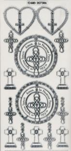 Zier-Sticker-Bogen-kirchliche-christliche Motive-7306trs