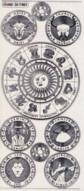 Zier-Sticker-Bogen-Sternzeichen-transparent/silber-7401trs