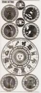 Zier-Sticker-Bogen-Sternzeichen-transparent/gold-7402trg