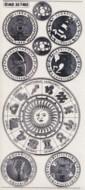 Zier-Sticker-Bogen-Sternzeichen-transparent/silber-7402trs