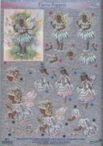 Dufex-3D-Stanzbogen-752910-Faerie Poppets / Elfen-gravierte Motive-Alu-beschichtetes Papier