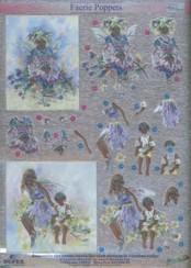 Dufex-3D-Stanzbogen-753010-Faerie Poppets / Elfen-gravierte Motive-Alu-beschichtetes Papier