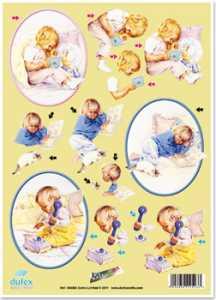 Dufex-3D-Stanzbogen-760045-Gallery, Kinder  -gravierte Motive-Alu-beschichtetes Papier