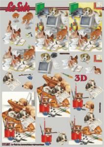 3D Etappen-Bogen-Schule / Chaos am Schreibtisch / 777027
