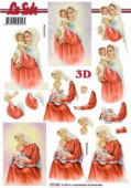 3D Etappen-Bogen-kirchliches-Motiv-Maria mit Kind-777163