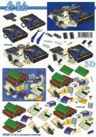 3D Etappen-Bogen-777169-Herrenmotiv-Büro - LeSuh