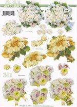 3D Etappen-Bogen-Hochzeit-Blumenbouquet-777237