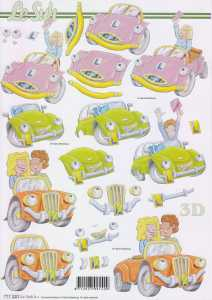 3D Etappen-Bogen-lustige Autos-777320