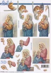 3D-Etappen-Bogen-Maria mit Kind -777343