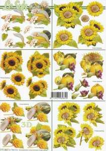 3D Etappen-Bogen-777364-Sonnenblumen