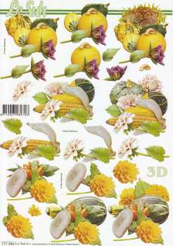 3D Bogen-Etappenbogen-Kürbis, Maiskolben, Pilze- 777366