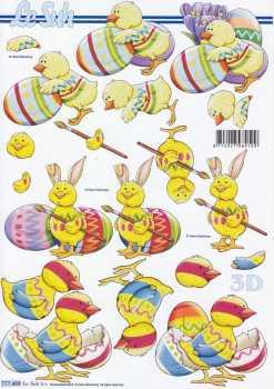 3D Etappen-Bogen-Ostern - Eier anmalen-777409