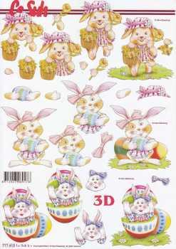 3D Etappen-Bogen-Ostern - lustige Hasen-777410