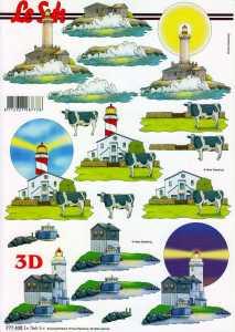 3D Etappen-Bogen-Leuchtturm -777430
