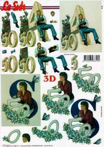 3D Etappen-Bogen-Jubiläumszahlen-50ter Geburtstag-777434
