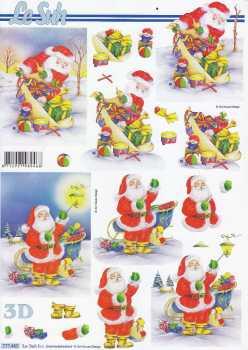 3D Bogen-Etappenbogen-Weihnachtsmann mit Geschenken -777465