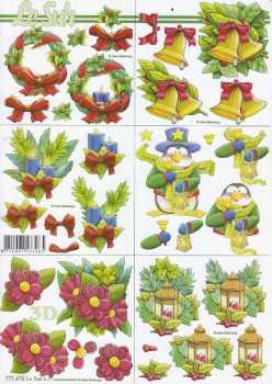 3D Bogen-Etappenbogen-kleine weihnachtliche Motive -777475