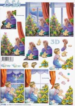 3D Bogen-Etappenbogen-Kinder warten auf den Weihnachtsmann -777480