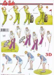 3D Etappen-Bogen-Sport-Golf-777501
