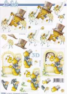 3D Etappen-Bogen-Bären Hochzeit-Le Suh 777512