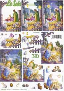 3D-Etappen-Bogen-Heilige Familie im Stall-777518