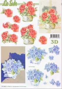 3D Etappen-Bogen-Rosen - Hortensie-777540