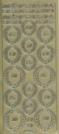 Zier-Sticker-Bogen-Jubiläum-Zahlen-gold-8120g