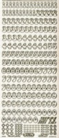 Micro-Glittersticker-Zahlen-transparent/gold-815gtrg