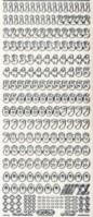 Micro-Glittersticker-Zahlen-transparent/silber-815gtrs