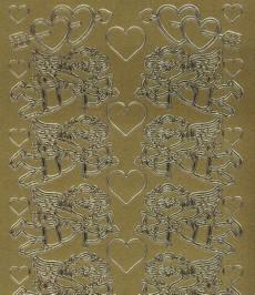 Zier-Sticker-Bogen-0817g-Engel/Amor