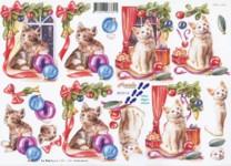 3D-Etappen-Bogen-Katzen vorm Fenster-8215112