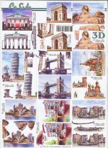 3D Etappen-Bogen-Städte-Wahrzeichen-kleine Motive-8215191