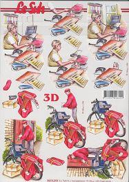 3D Bogen-Sekretärin / Postbote -8215210