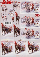 3D Bogen-Etappenbogen-Kutschfahrt durch die Winterlandschaft-8215256