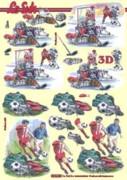 3D Etappen-Bogen-Fussball-Eishockey-8215294