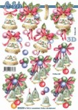 3D Bogen-Etappenbogen-Winterlandschaft auf Glocke-8215378