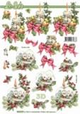3D Bogen-Etappenbogen-Winterlandschaft auf Kerze-8215379