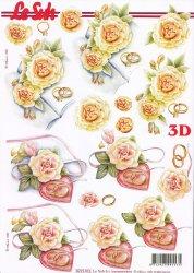 3D Etappen-Bogen - Hochzeit - Ringe auf Kissen - 8215472