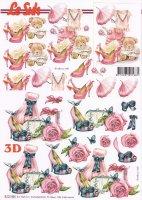 3D Etappen-Bogen-Outfit in pink -für die Damen-8215484