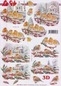 3D Bogen-Etappenbogen-Rotkehlchen-8215505